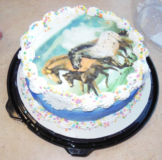 One of my favorite things about Chuck E. Cheese's is how family friendly they are.  You can buy a cake there or you can bring your own.