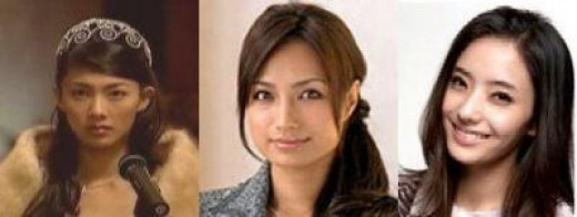 I think that the Korean version (extreme right) Shizuka is the prettiest! She's Han Chae Young, btw.