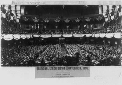 1892 Prohibition Convention in Ohio - One Year Before The Temperance Movement was Formed