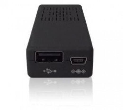 MK808 view of USB port