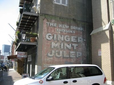 Billboard of a Prohibition-Era Soft Drink Developed When Alcohol was Banned - French Quarter, New Orleans, Louisiana