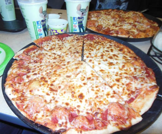 The pizza is great!  The crust is crispy and there's lots of cheese. We love all the different toppings they have!
