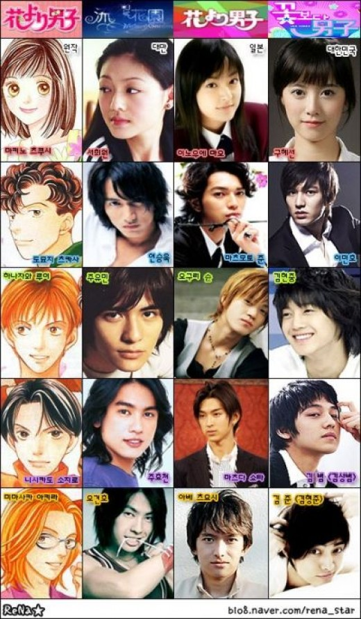 Check out the different characters in each country's remake! Taiwan, Japan, Korea