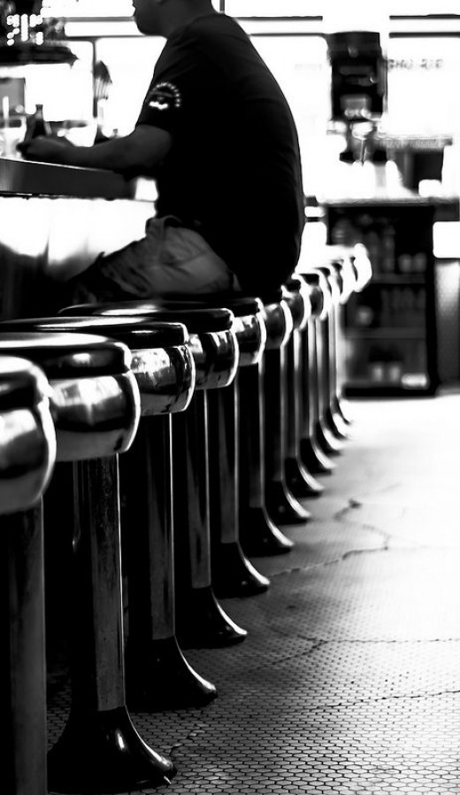 Row of Stools at the Drugstore
