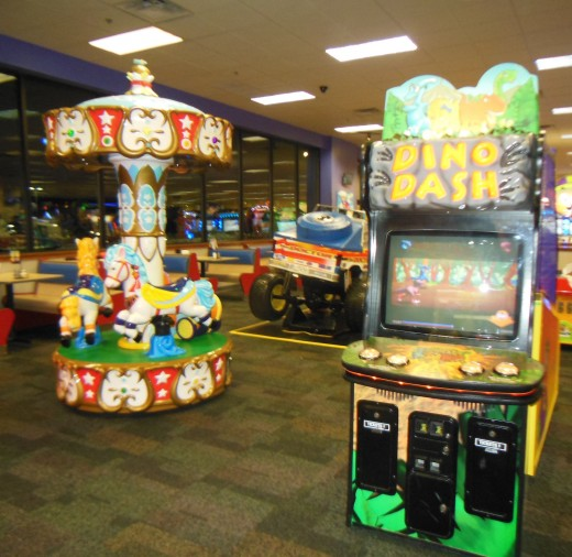 Lots of little kid arcade games and rides!