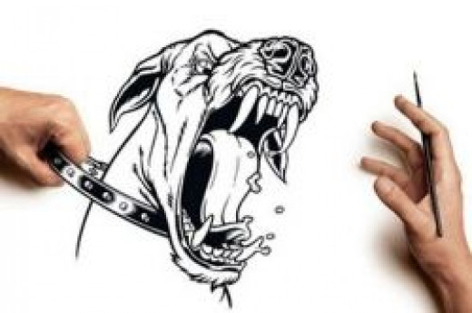 tattoo dog sketch