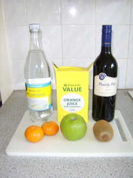 Authentic and healthy Sangria ingredients