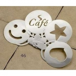 Stainless Steel Coffee Stencil