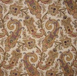 Paisley design brocade fabric