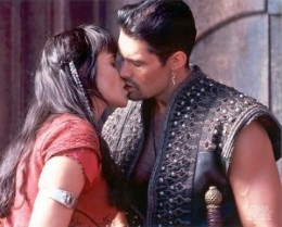Xena never could resist a bad guy in leather...