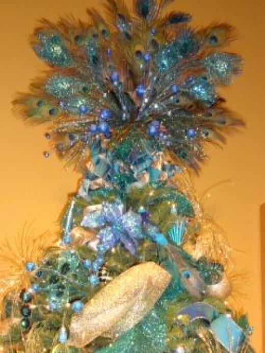 Peacock Themed Tree