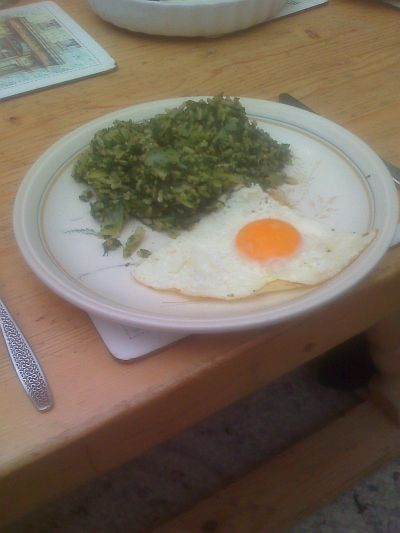 spinach rice and egg