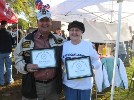 Friends of the Park Volunteers of the Year at Pendleton Town Takeover