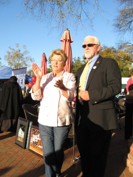 Mayor and Mrs. Randy Hayes at Fox Carolina Town Takeover in Pendleton SC