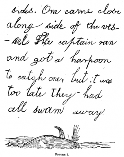 A page from a nature journal by 7-year old Edward Drinker Cope (1847)