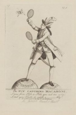 Well-known naturalist Joseph Banks in a caricature published in 1772