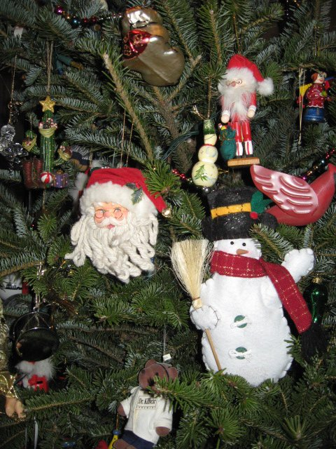 lots of Santas and Snowmen and of course a cardinal