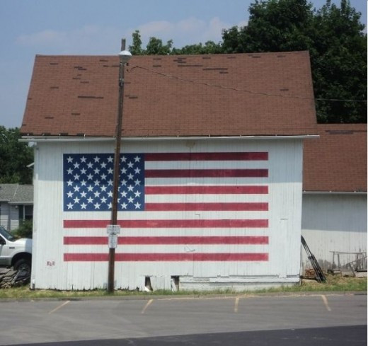And Old Barn always warms my heart...   Showing Patriotic colors of the Flag, even better. too