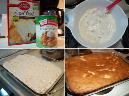 Apple Angel Food Cake: After seeing how good the pineapple cake was, my husband started talking about apple cake. It was apple cake this and apple cake that until finally I surprised him with it. It was every bit as good as he said. It's light and fl