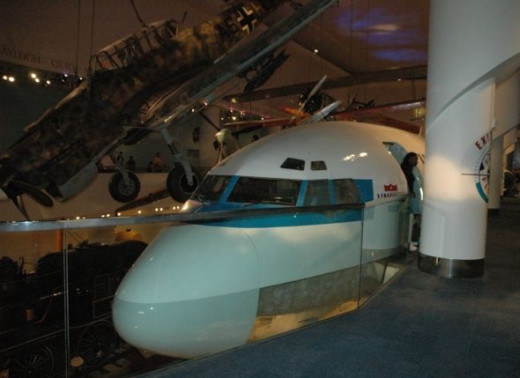 They have a real jet inside the building!