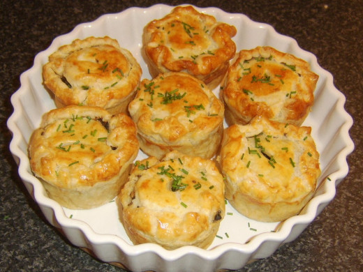 Mini puff pastry pies are perfect for storing in food flasks