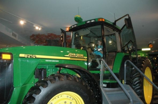 A real tractor for the kids to climb into