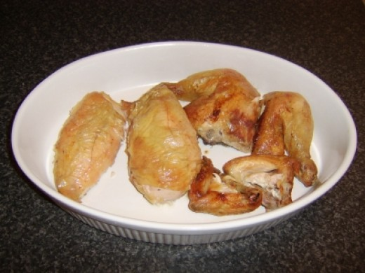 Roast Chicken Chopped in to Portions
