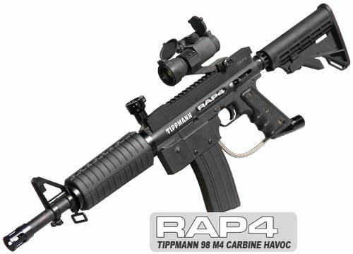 Tippmann 98 M4 Carbine Havoc Paintball Marker