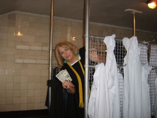 The Five Dollars Sneak a Peak in the Girls' Cloakroom