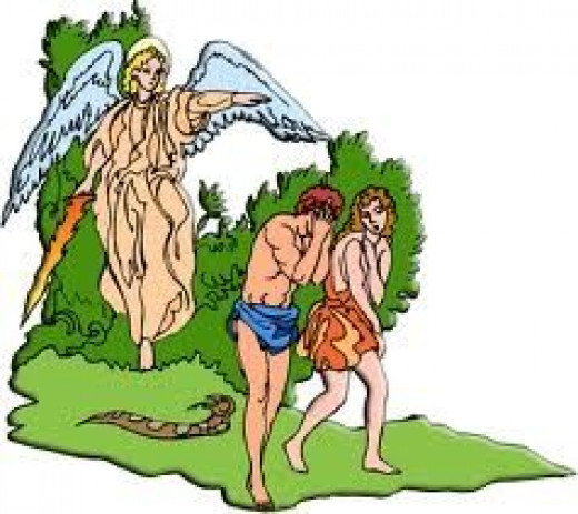 Adam and Eve thrown out of the Garden