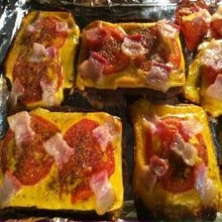 Nanny's easy open-faced sandwich