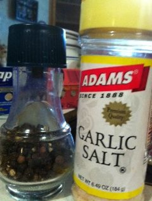 Black pepper and garlic salt spice things up