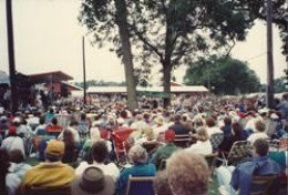 Soaking up sun and music at Stage 3 (one of six stages) during 1992 WVF.