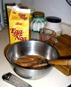 Mixing Eggnog Batter For Eggnog French Toast