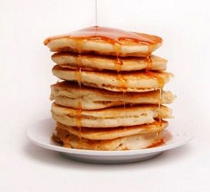 leftover eggnog pancakes
