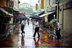 Raining in Singapore - Common in Tropical Countries