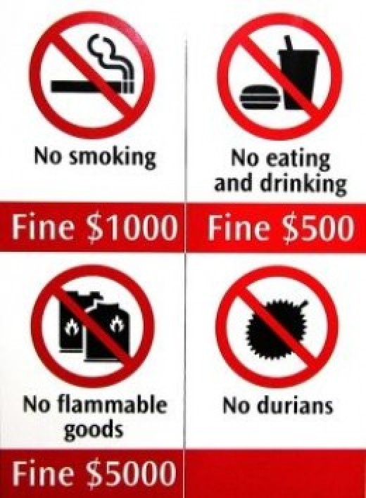 If you commit the above offence in MRT trains, you'd get slapped with fines.