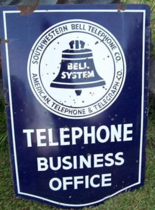Original Vintage Bell Sign