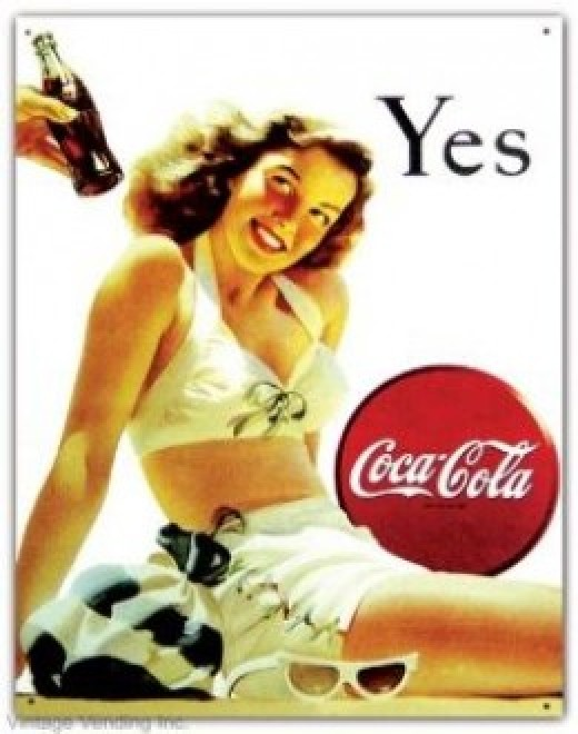 Repro of Old Coke Sign