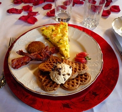 Red Valentine Heart Shaped Waffle Setting