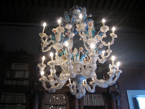 A Murano glass chandelier in the Museo Correr. Classical!
