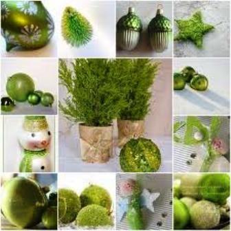 Go for green Christmas dining table setting! Fresh!