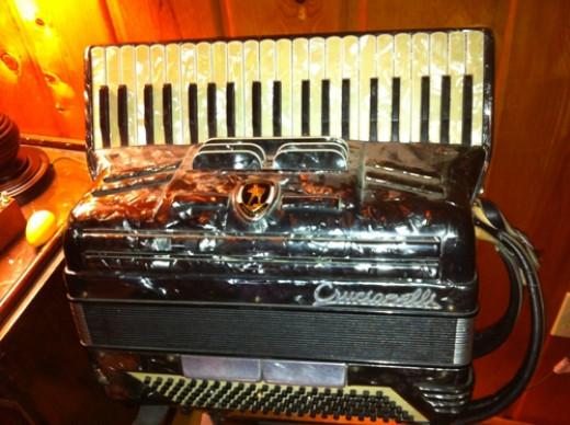 My husband's beautiful accordian.