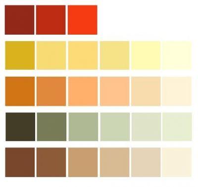 Select earth tones