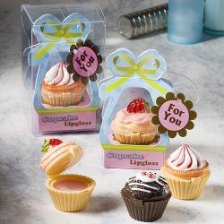 Cupcake Lip Gloss Wedding Favor