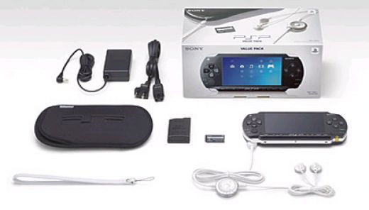 the PSP and accessories which come when you buy it