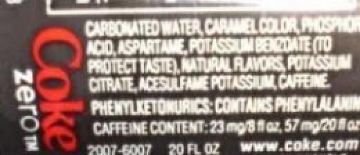 Diet Coke Ingredients