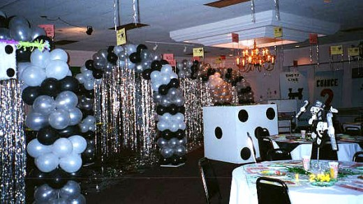 Throw a Casino Night... Balloon arches not necessary