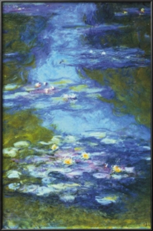 Claude Monet Water Lilies The Color Blue Artwork for Home Decor by Famous Artists