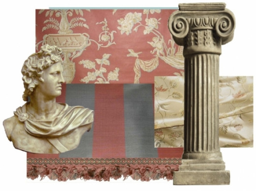 Neoclassical Interior Design Sample Swatch Board